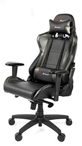 Arozzi Verona Pro V2 Premium Racing Style Gaming Chair with High Backrest, Recliner, Swivel, Tilt, Rocker and Seat Height Adjustment, Lumbar and Headrest Pillows Included, Carbon Black