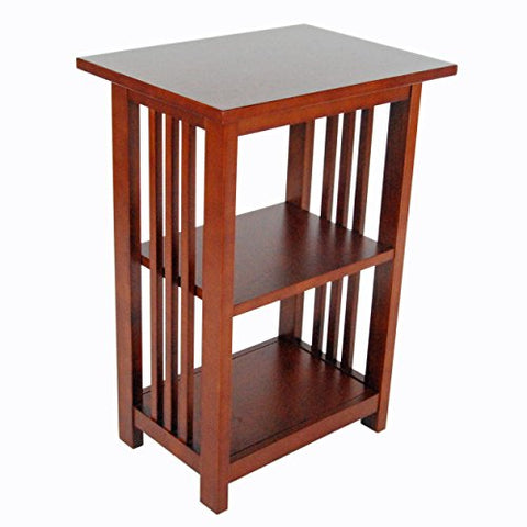 Mission 2-Shelf End Table, Cherry