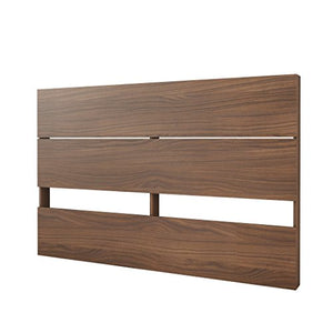 Nexera Plank Effect Headboard, Queen, Walnut