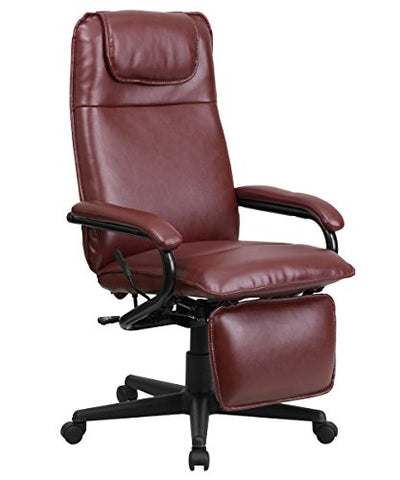 Offex High Back Leather Executive Reclining Office Chair, Burgundy