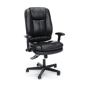 OFM Essentials Collection Ergonomic High-Back Bonded Leather Executive Chair, in Black (ESS-6050)