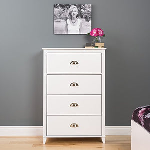 Prepac Yaletown 4 Drawer Chest, White