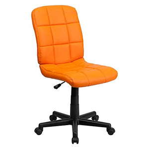 Offex Mid Back Orange Quilted Vinyl Task Chair