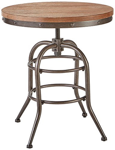 Signature Design By Ashley - Vennilux End Table - Vintage Casual - Round - Grayish Brown