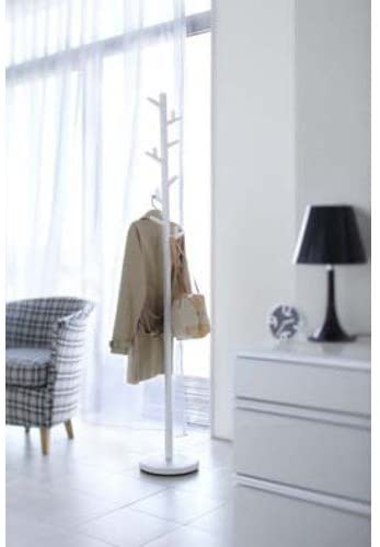 "Paul - White Color Modern Coat Rack / Stand, 70"" High"