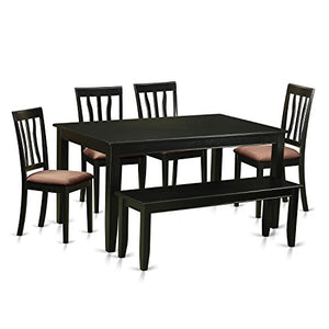6 Pc Kitchen nook Dining set - Dinette Table and 4 Kitchen Dining Chairs in addition to Bench