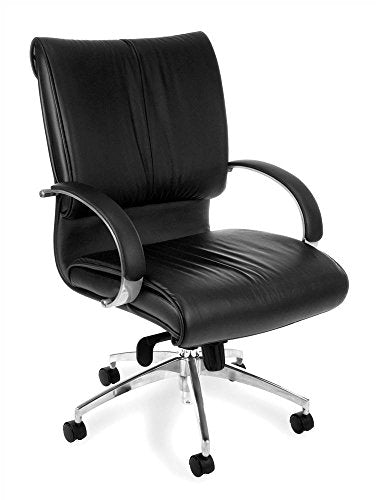 OFM Sharp Series Mid-Back Executive Leather Chair - Mid Back Ergonomic Office Chair (511-L)