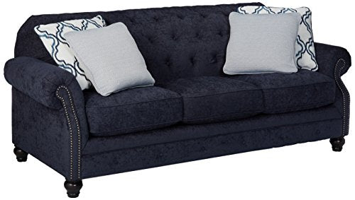 Benchcraft - LaVernia Contemporary Upholstered Sofa - Navy