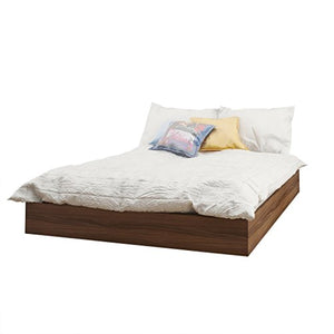 Nexera Alibi Full Size Platform Bed, Walnut