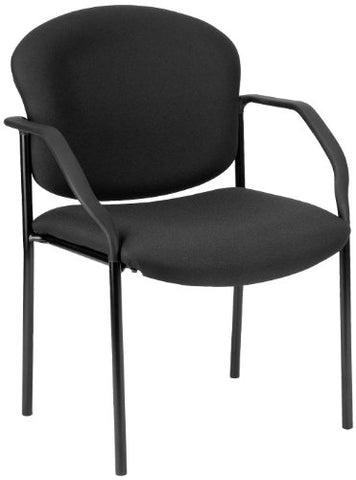 deluxe stacking guest chair - black
