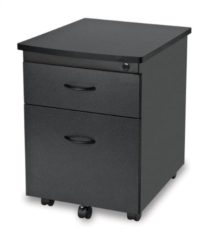 OFM Modular Mobile Pedestal 2-Drawer File / Box Cabinet, Graphite