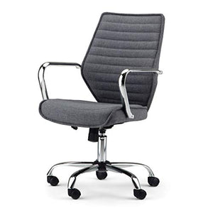 Simpli Home AXCOCHR-12 Samuels Swivel Adjustable Executive Computer Office Chair in Grey