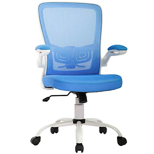 KOVALENTHOR Office Chair Desk Chair Mesh Computer Chair Ergonomic Executive Swivel Rolling Chair Computer Stool with Lumbar Support, Blue