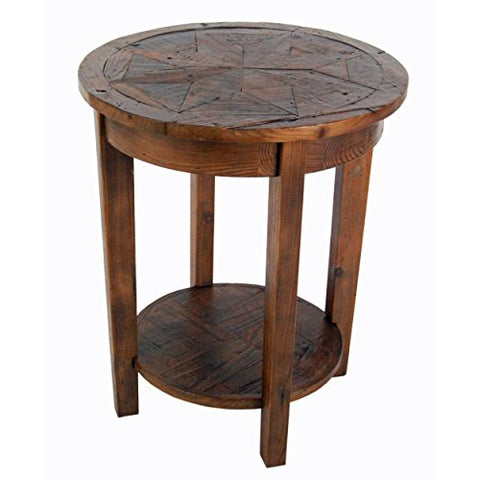 "Renew Reclaimed Wood 20"" Round End Table, Natural"