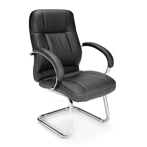 OFM 518-LX Leatherette Executive Conference Guest Chair Seat/Back Color: Black