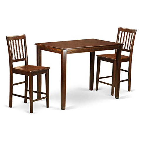 3 Pc counter height Table and chair set - high Table and 2 counter height Chairs.