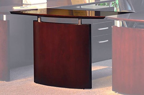 Mayline Napoli Right Hand Bridge for use with Credenza or Desk sold separately Mahogany Veneer
