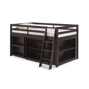 Roxy-Junior-Twin-Loft-Bed-with-Pull-Out-Desk-and-Storage-Shelves,-Espresso