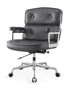 MEELANO Office Chair, One Size, Navy Blue