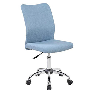 Techni Mobili Modern Armless Desk Chair in Blue Jean