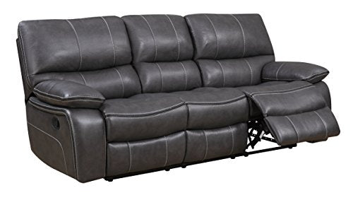 Global Furniture Reclining Sofa, Grey/Black