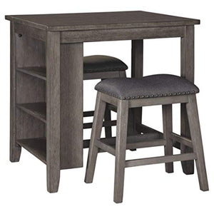 Signature Design by Ashley - Caitbrook Dining Table Set - Counter Height - 3 Piece Set - Gray