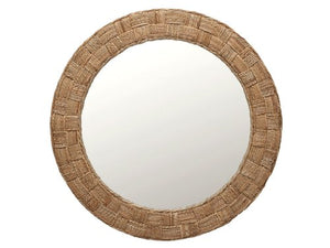 KOUBOO Round Rope Wall Mirror, Chequered