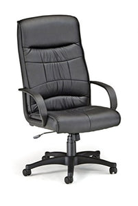OFM 507-LX-T Synthetic Leather Adjustable Executive Chair with Arms, Black