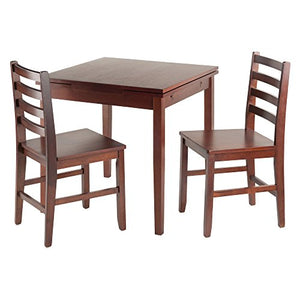 Winsome Wood Pulman 3 Piece Set Extension Table with Ladder Back Chairs