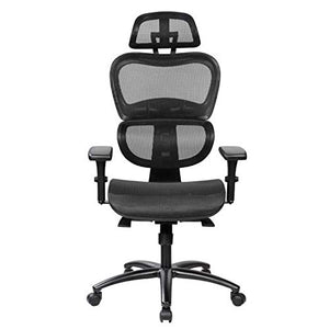 Urban Designs High Back Mesh Office Executive Chair with Neck Support Black