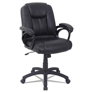 Alera Alera CC Series Executive Mid-Back Leather Chair, Black