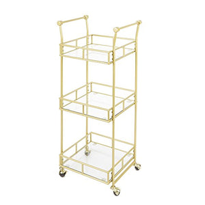 Silverwood Collier-3-Tier-Square-Bar-Cart