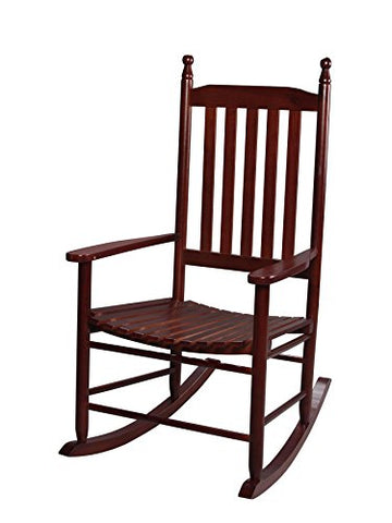 Gift Mark Adult Tall Back Rocking Chair, Cherry
