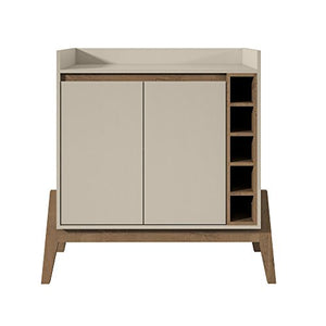 Manhattan Comfort 350904 Essence 2 Tone Buffet and Wine Cabinet, Off- Off-White