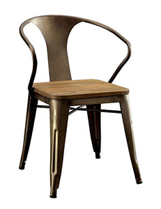 William's Home Furnishing Cooper I Side Chairs Dark Bronze and Natural