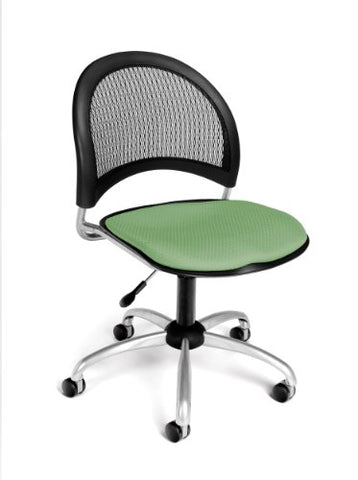 moon swivel chair - sage green