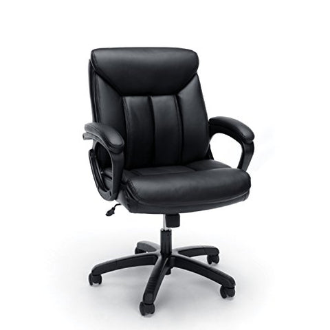 essentials by ofm ess-6020 executive office chair, black with black frame