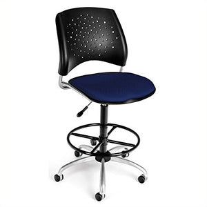 OFM 326-DK-2203 Stars Swivel Stool with Fabric Seat
