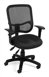 OFM 130-AA3-A01 Mesh-Back Comfort Series Task Chair - Ergonomic Office Chair with Arms, Gray