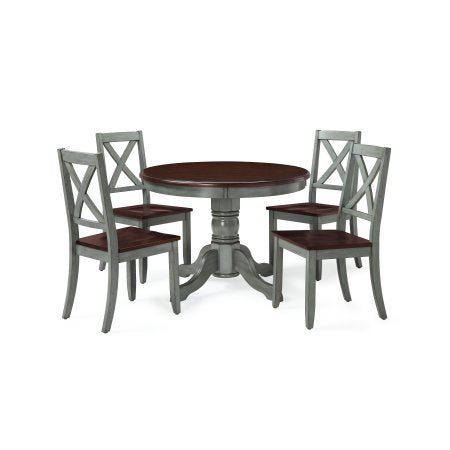 Better Homes and Gardens Cambridge 5-Piece Dining Set, Blue and Mocha