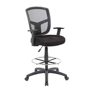 Boss Office Products (BOSXK) Drafting Stool, Black