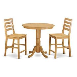 3 Pc counter height Table and chair set - high top Table and 2 Dining Chairs.