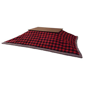 "AZUMAYA Kotatsu Futon Rectangle (90"" x 75"" inches) Red Checkered Design Polyester Material KK-154RD Home and Living"