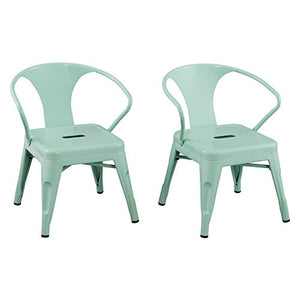Reservation Seating Kids Steel Chair, Mint Green, One Size
