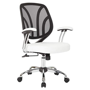 Ave Six Screen Back Office Task Chair, White
