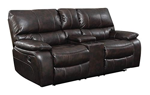 Coaster Home Furnishings CO- Willemse Collection Motion Loveseat, Two-Tone Dark Brown