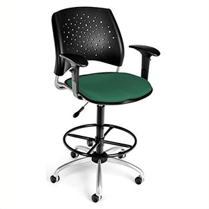 OFM 326-AA3-DK-2201 Stars Swivel Stool with Arms