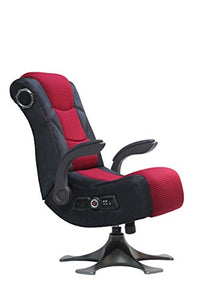 X Rocker 5129101 Pedestal Video Gaming Chair 2.1 Microfiber Mesh, Black/Red