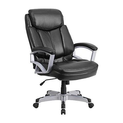 Offex Hercules Series Big and Tall Black Leather Executive Office Chair, 500 lb.