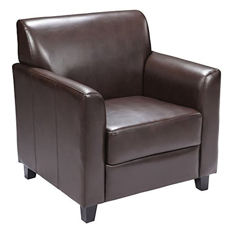 Offex Hercules Diplomat Series Leather Chair, Brown